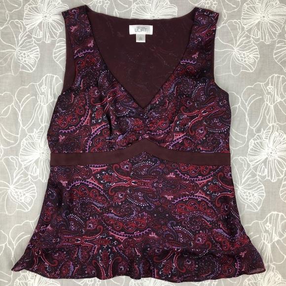 16aadca1c5f5db LOFT Tops - Ann Taylor LOFT paisley v-neck sleeveless blouse